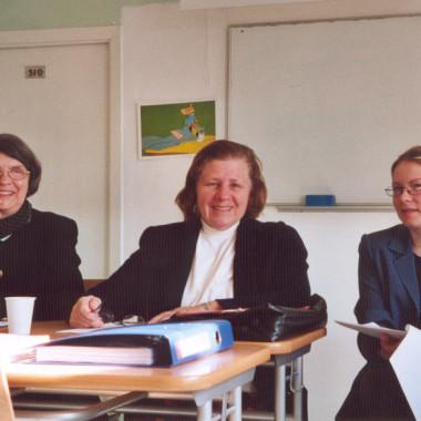 Prof. Suzanne Lie, prof. Lynda Malik ja tõlk Tartus seminaril